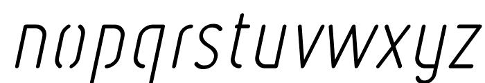 Ruler Stencil Light Italic Font LOWERCASE