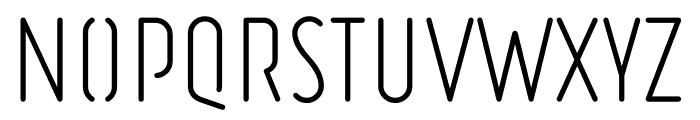 Ruler Stencil Light Font UPPERCASE