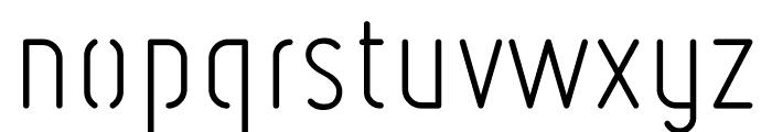 Ruler Stencil Light Font LOWERCASE