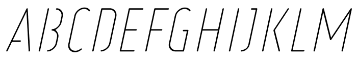 Ruler Stencil Thin Italic Font UPPERCASE
