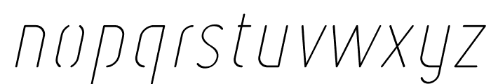 Ruler Stencil Thin Italic Font LOWERCASE