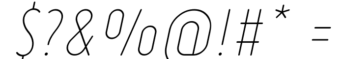 Ruler Thin Italic Font OTHER CHARS