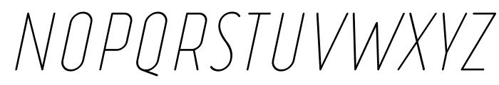 Ruler Thin Italic Font UPPERCASE