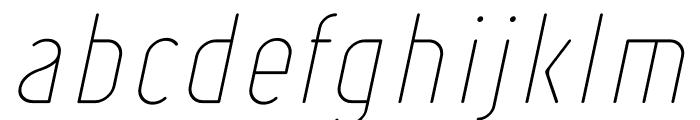 Ruler Thin Italic Font LOWERCASE
