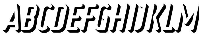Ruler Volume Extrude Bold Italic Font UPPERCASE