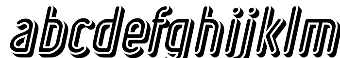 Ruler Volume Negative Bold Italic Font LOWERCASE