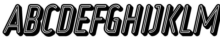 Ruler Volume Neon Font UPPERCASE