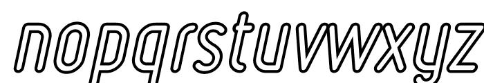 Ruler Volume Outline Bold Italic Font LOWERCASE