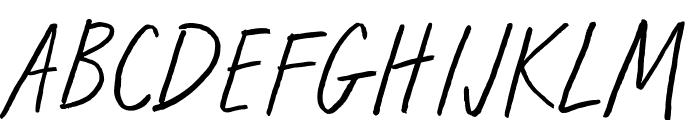 Run Wild Font UPPERCASE