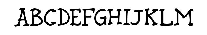 Rund Marker Font UPPERCASE