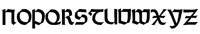 RundgotischRauh Font UPPERCASE