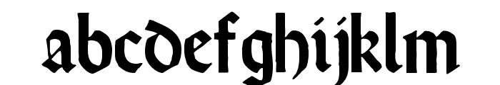 RundgotischRauh Font LOWERCASE