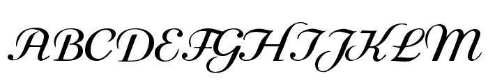 Rundkursiv Font UPPERCASE