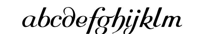 Rundkursiv Font LOWERCASE