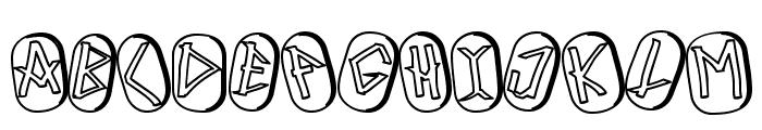 Runez of Omega Two Font UPPERCASE