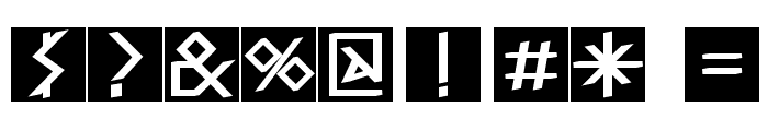 RunishQuill-BlackSquares Font OTHER CHARS