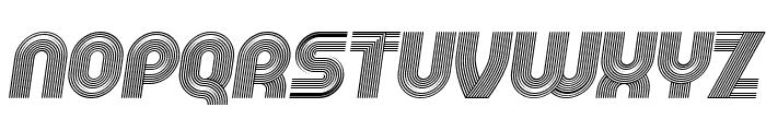 Running Italic Font UPPERCASE