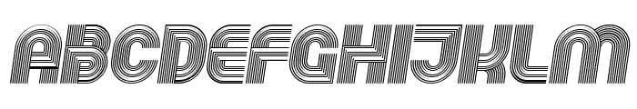 Running Italic Font LOWERCASE