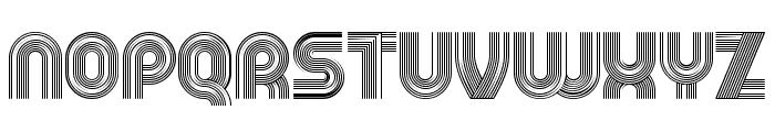 Running Regular Font UPPERCASE