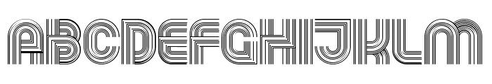 Running Regular Font LOWERCASE