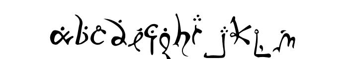 Running-Smobble Font LOWERCASE
