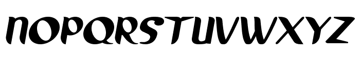 Running shoe Font UPPERCASE