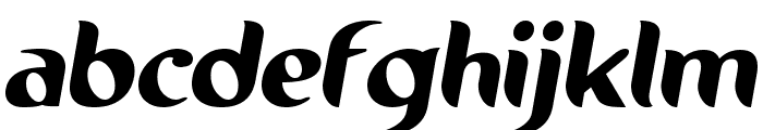 Running shoe Font LOWERCASE