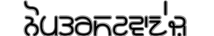 Rupe Border Black Font LOWERCASE