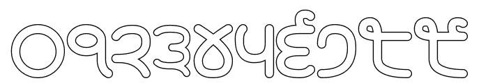 Rupe Outline Black Font OTHER CHARS
