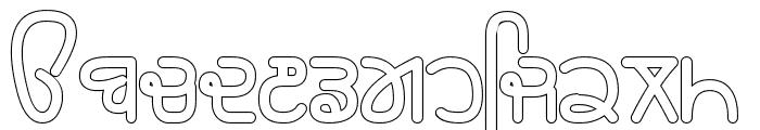 Rupe Outline Black Font LOWERCASE