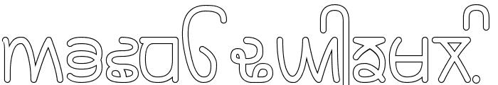 Rupe Outline Bold Font UPPERCASE