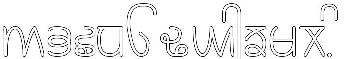 Rupe Outline Medium Font UPPERCASE
