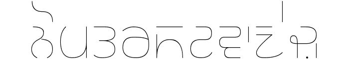 Rupe Ultra Thin Font LOWERCASE