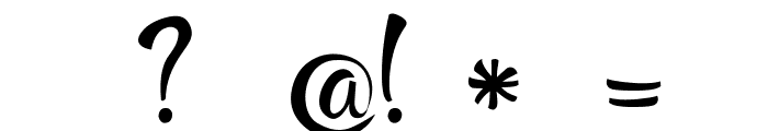 RupsterScriptFree Font OTHER CHARS
