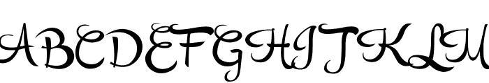 RupsterScriptFree Font UPPERCASE