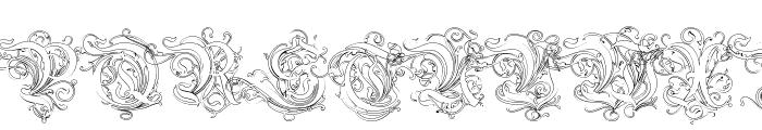 Ruritania-Outline Font UPPERCASE