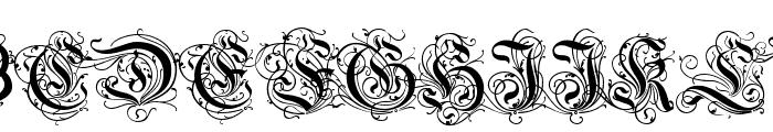 Ruritania Font UPPERCASE