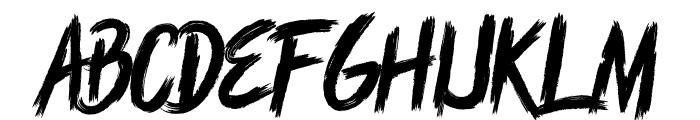 Rush Brush Font UPPERCASE