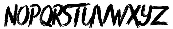 Rush Brush Font LOWERCASE