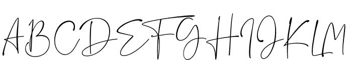 Rushtick Font UPPERCASE