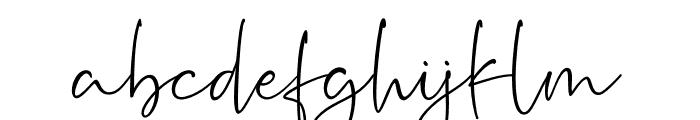 Rushtick Font LOWERCASE