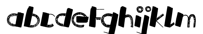Russian Roulette Font LOWERCASE