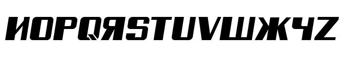 Russian Spring Italic Font UPPERCASE