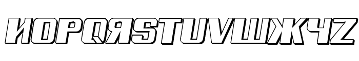 Russian Spring Shadow Italic Font LOWERCASE
