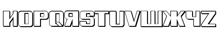 Russian Spring Shadow Regular Font UPPERCASE