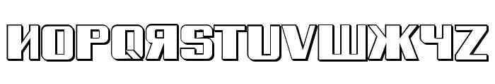 Russian Spring Shadow Regular Font LOWERCASE