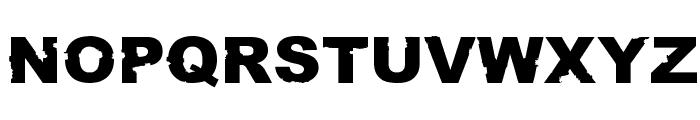 Rust never sleeps Font UPPERCASE