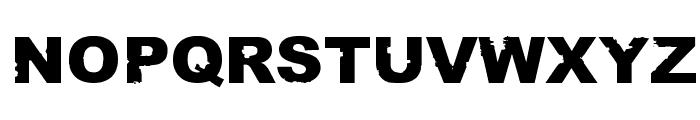 Rust never sleeps Font LOWERCASE