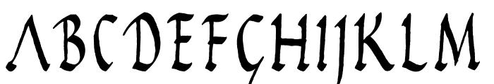 Rustic Capitals Font LOWERCASE