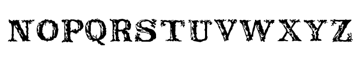 Rustic Font UPPERCASE